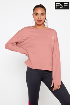 F&F Pink Gym Chic Sweater