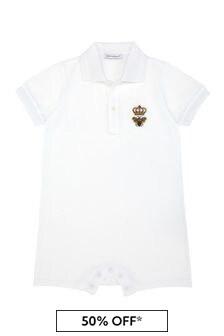 Dolce & Gabbana Kids Baby Boys White Cotton Shortie
