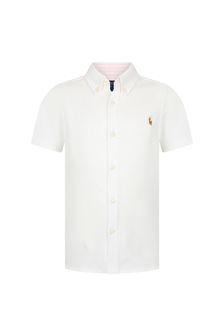 Ralph Lauren Kids Boys White Cotton Shirt