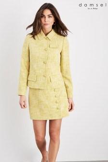 Damsel In A Dress Yellow Demelza Tweed Jacket