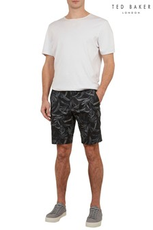 Ted Baker Blue Ausral Printed Cotton Shorts