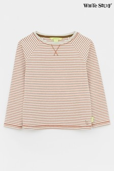 White Stuff Coral Kids Seb Stripe Layering Top