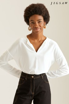 Jigsaw Silk Front Top