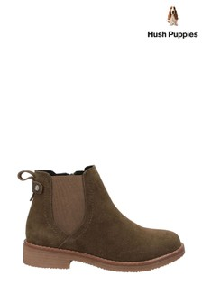 Hush Puppies Khaki Maddy Ladies Ankle Boots