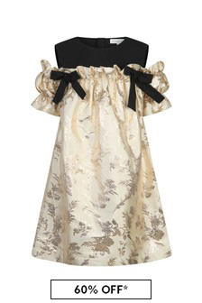 Girls Cream Holly Dress