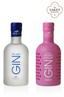 20cl Lakes Gin And Rhubarb And Rosehip Gin Gift Set by The Lakes Distillery