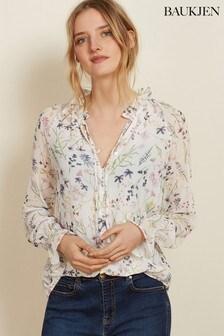Baukjen White Floral Jasmine Blouse