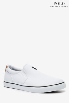 Ralph Lauren White Thompson Slip On Pumps