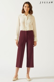 Jigsaw Mulberry Modern Crepe Crop Straight Trouser