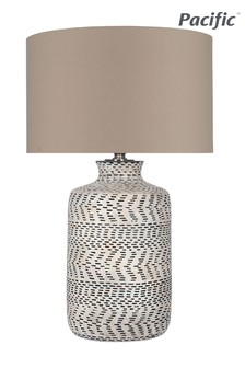 Atouk Textured Stoneware Table Lamp by Pacific Lifestyle