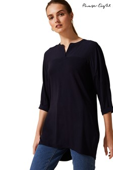 Phase Eight Blue Dominique Longline Shirt