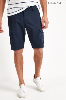 GANT Relaxed Navy Twill Utility Shorts