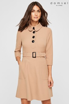 Damsel In A Dress Neutral Adie Button Detail Dress