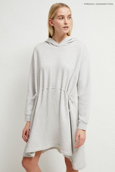 French Connection Grey Santino Hoody Dress