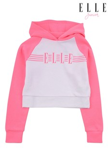 ELLE Pink Cut and Sew Raglan Hoodie