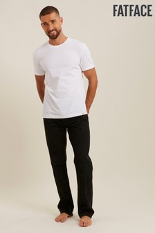 FatFace Black Straight Washed Jeans