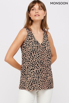 Monsoon Ladies Pink Margot Animal Print Cami