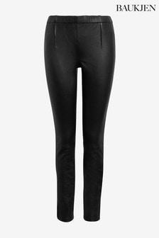 Черные кожаные леггинсы Baukjen Liv