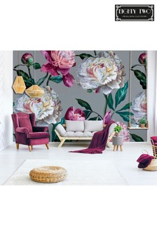 Exclusive To Next Peony Bloom Wall Mural by Eighty Two