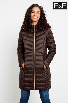 F&F Chocolate Epp Long Padded Coat