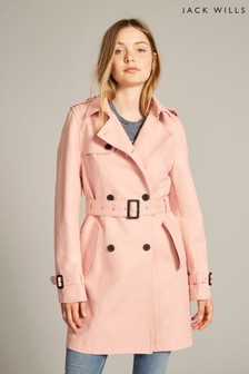 Jack Wills Blush Mitford Classic Trench Coat