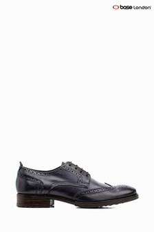Base London® Blue Porter Burnished Lace-Up Brogue Shoes