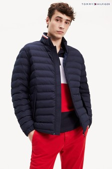 Tommy Hilfiger Blue Stretch Quilted Jacket