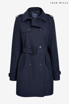 Jack Wills Navy Mitford Classic Trench Coat