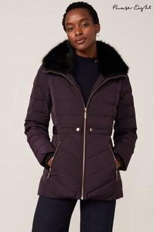 Phase Eight Purple Bobbie Short Padded Coat