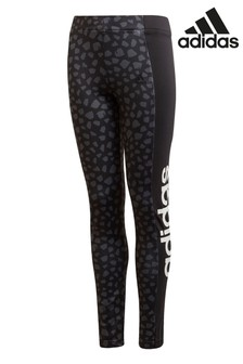 adidas Performance Spot Print Linear Logo Leggings