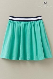 Crew Clothing Company Green Elastic Waistband Jersey Skirt