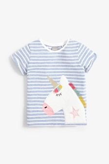 Stripe Unicorn T-Shirt (3mths-7yrs)