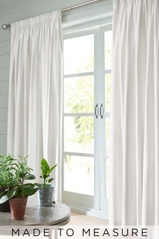 Cotton White Made To Measure Curtains