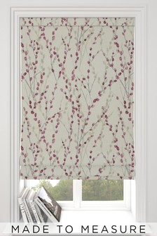 Made To Meaure Red Delicate Willow Print Roman Blind