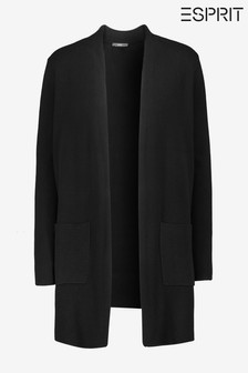 Esprit Womens Black Long Sleeved Cardigan