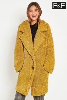 F&F Yellow Teddy Coat