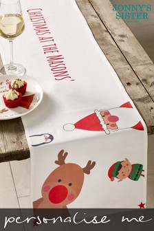 Personalised Christmas Characters Table Runner by Jonny's Sister