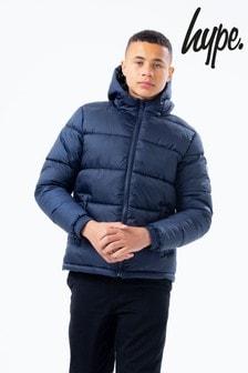 Hype. Navy Puffer Jacket
