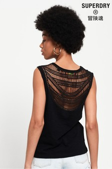 Superdry Liana Crochet Back Vest Top