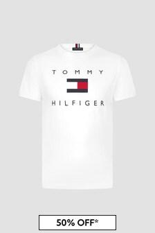 Tommy Hilfiger White Cotton T-Shirt