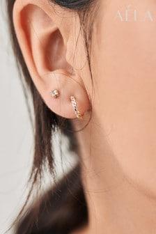Aela Rose Gold Tone Pearl Effect Earrings 6 Pack