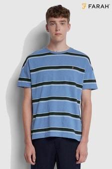 Farah Blue Samuelson Stripe T-Shirt