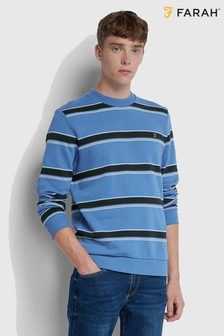 Farah Striped Sweatshirt With Chest Placement Embroidered Logo