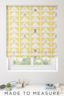 Prism Geo Ochre Yellow Made To Measure Roman Blind
