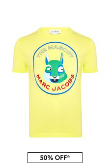 Marc Jacobs Boys Yellow Cotton T-Shirt