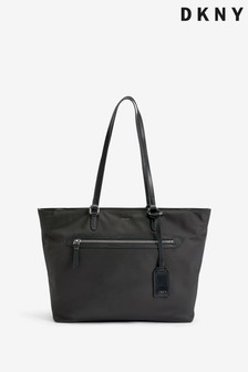 DKNY Black Nylon Casey Tote Bag