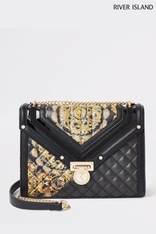 River Island Black Medium Underarm Bag