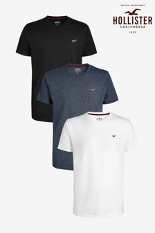 Hollister Multi Crew T-Shirts Three Pack
