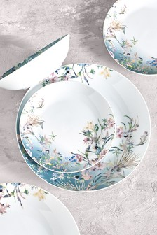 12 Piece Eastern Tropics Dinner Set