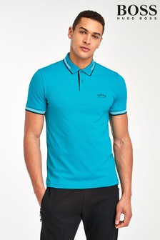 BOSS Turquoise Paul Curved Polo